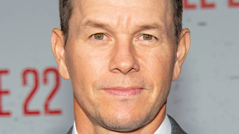Mark Wahlberg at the Mile 22 premiere in 2018