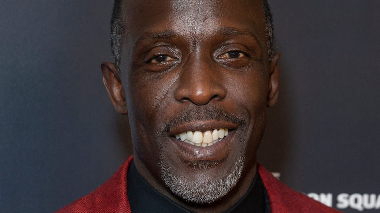 Michael K. Williams at the Garden of Laughs comedy show in 2019