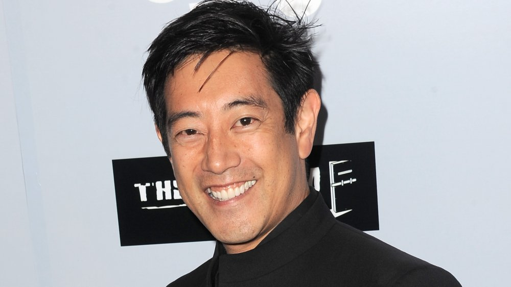 """TV personality Grant Imahara arrives for the Premiere Of The Asylum's """"Sharknado 3: Oh Hell No!"""" at iPic Theaters"""