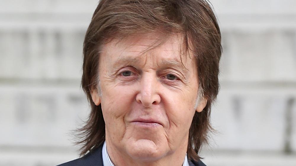 Paul McCartney outdoors