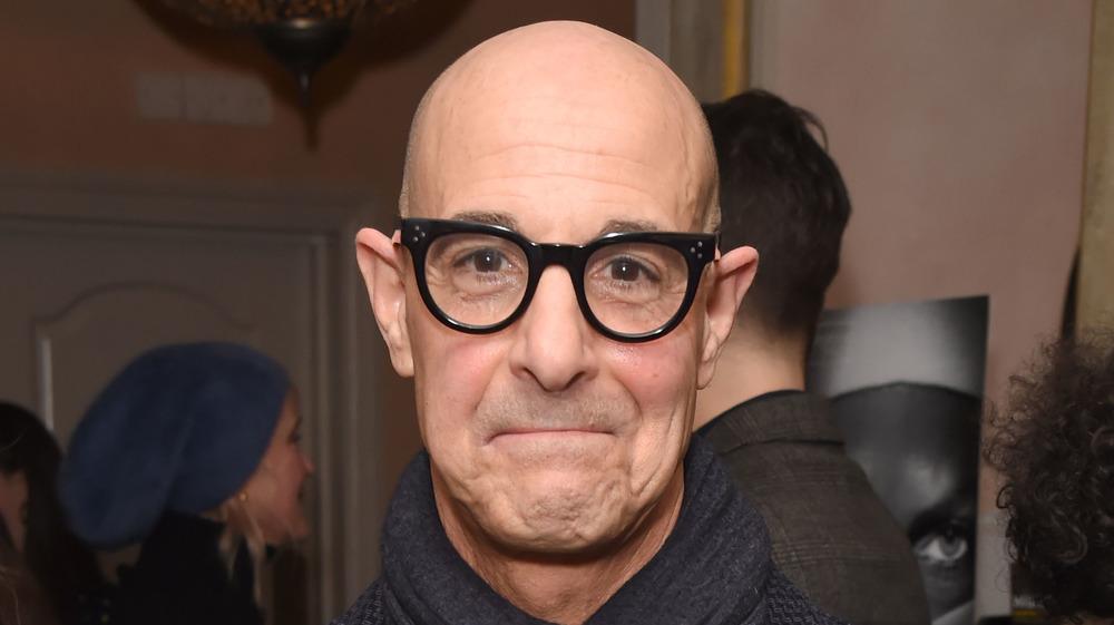 Stanley Tucci in black glasses
