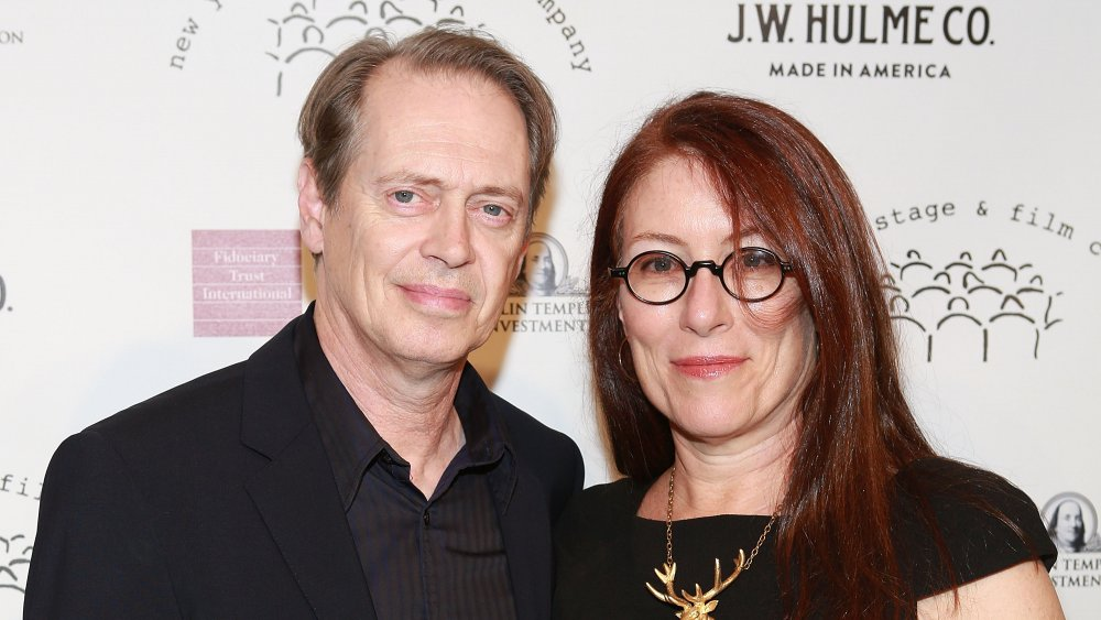 Steve Buscemi and Jo Andres attends the New York Stage and Film 2013 gala