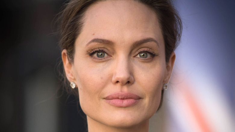 Angelina Jolie looking into the camera