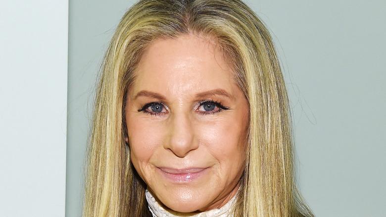 Barbra Streisand slightly smiling