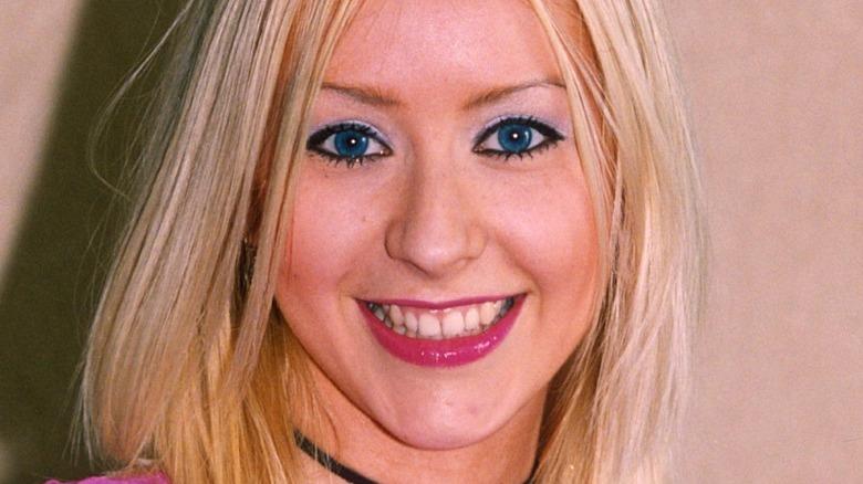 A young Christina Aguilera smiling