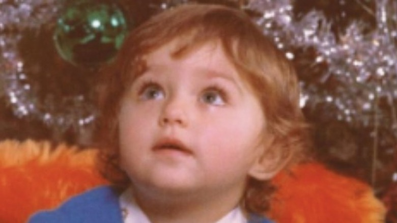 Giada De Laurentiis as a baby with her brother