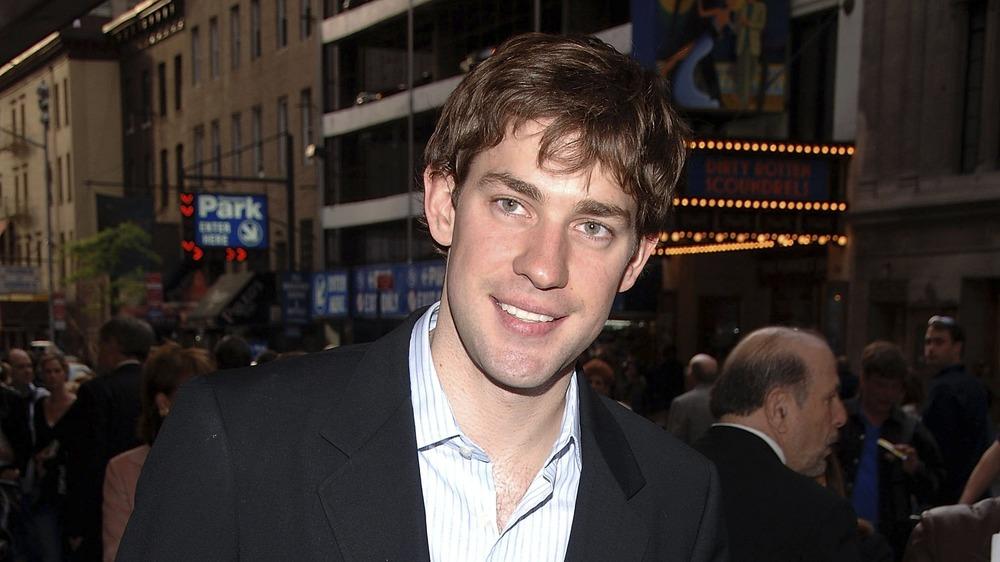 John Krasinski smiling at a movie premiere