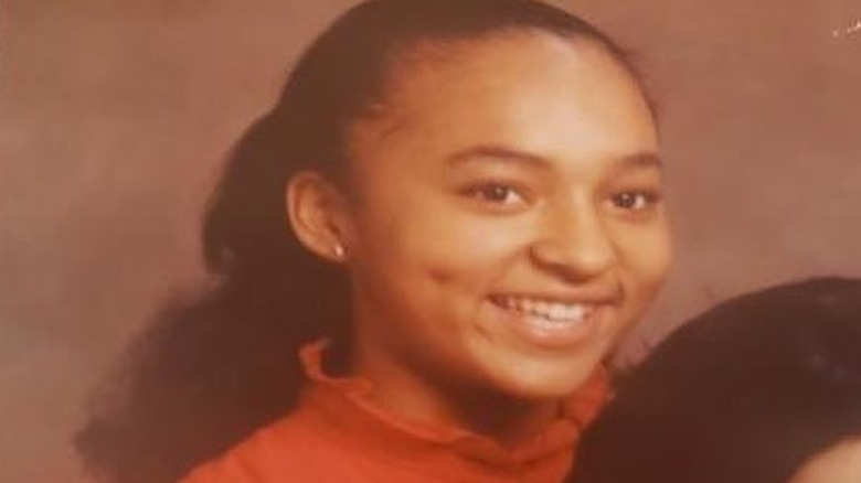 Karen Huger in a throwback photo as a teenager from Instagram