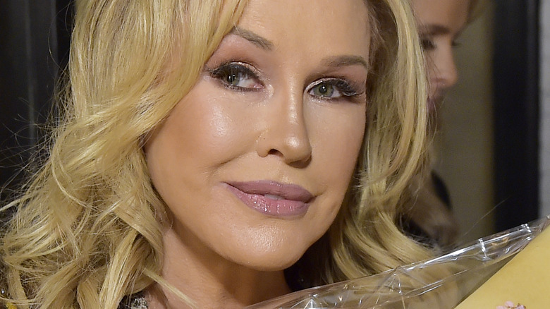 Kathy Hilton with slight smile