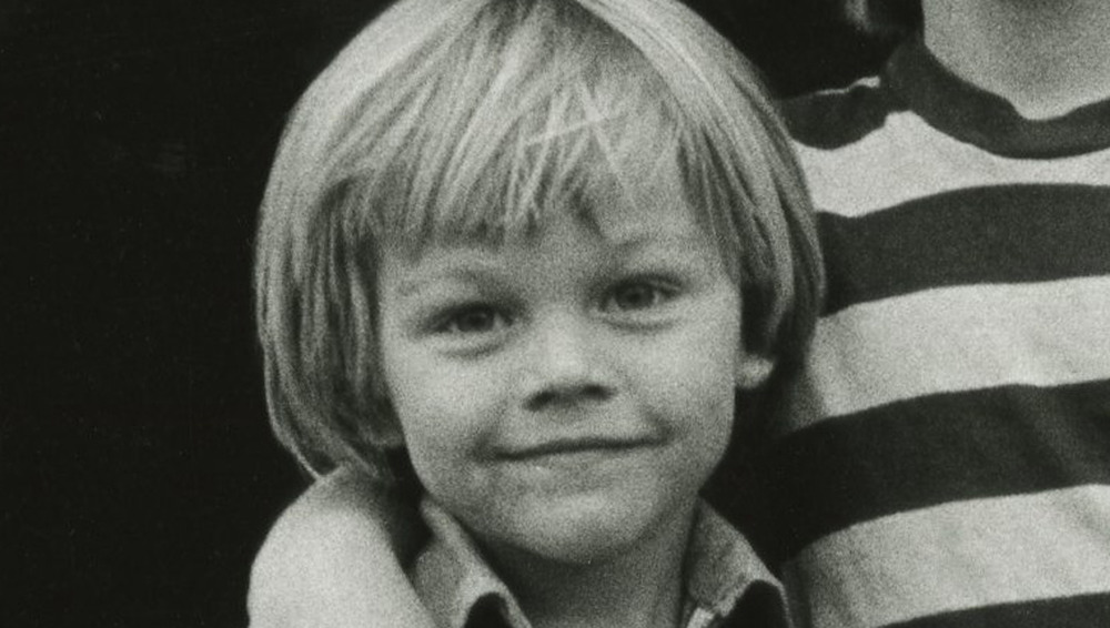 Leonardo DiCaprio in black-and-white photo from July 1978
