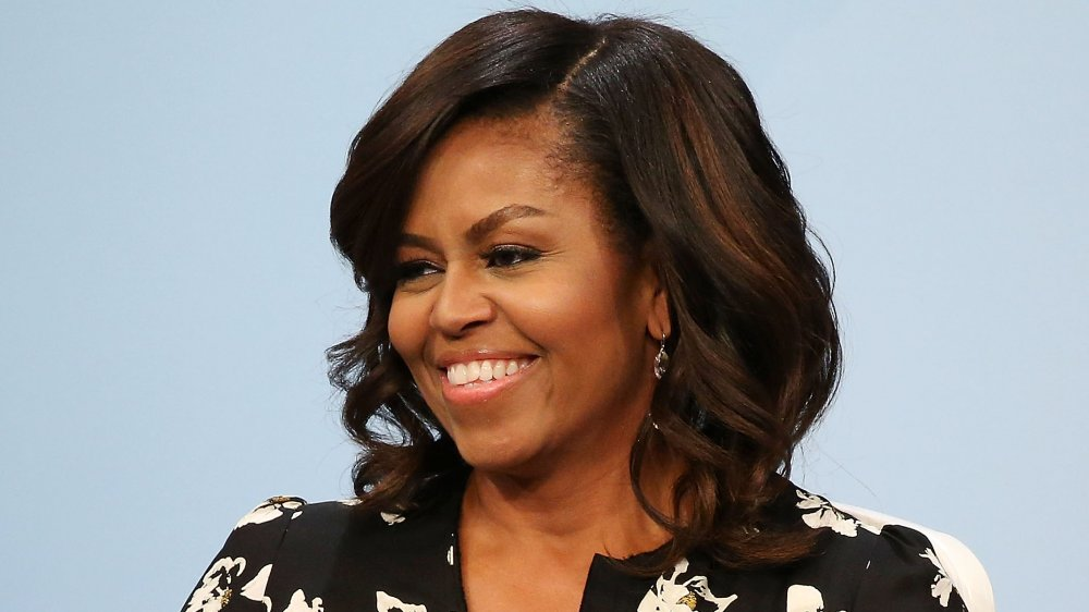 Michelle Obama at her panel discussion with Glamour, 'A Brighter Future: A Global Conversation on Girls' Education'