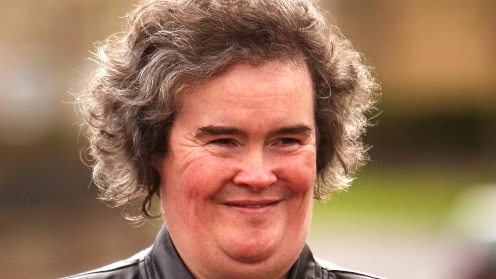 Susan Boyle smiling for the cameras