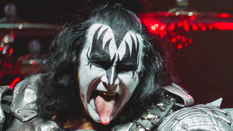 Gene Simmons performing as part of KISS