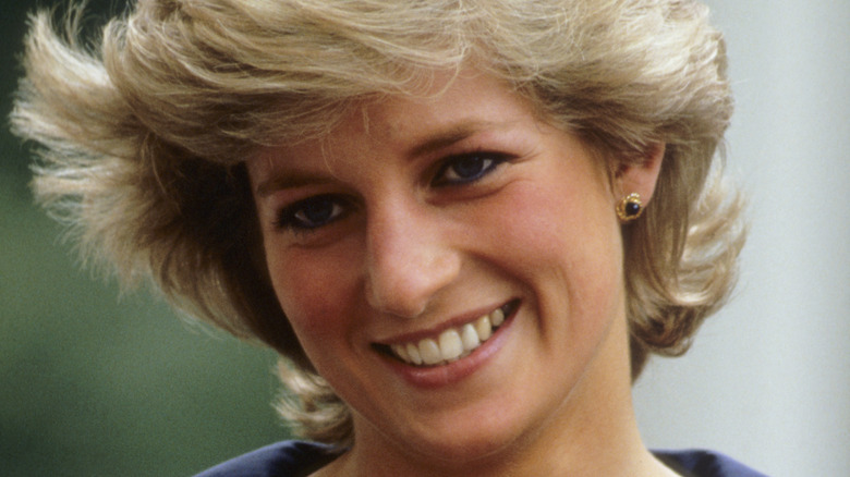 Princess Diana, smiling, 1987 photo