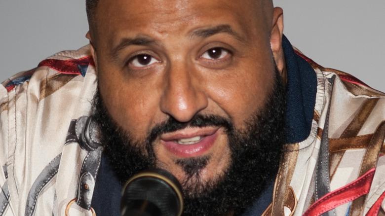 DJ Khaled with mic