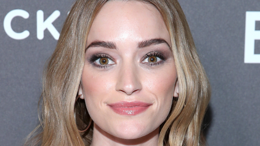 Brianne Howey on a red carpet