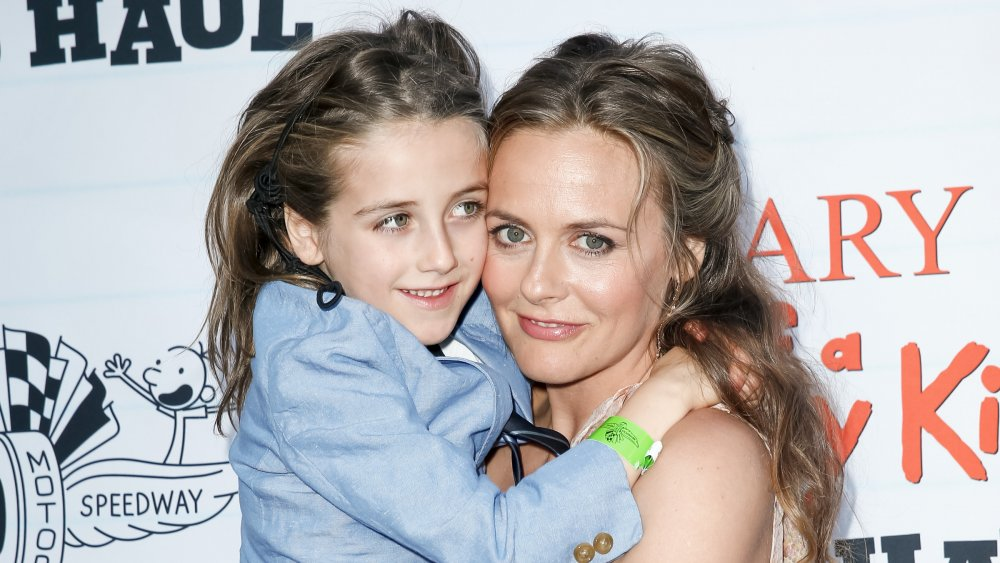 Alicia Silverstone and her son Bear Blu Jarecki appear at the premiere of Diary of a Wimpy Kid The Long Haul