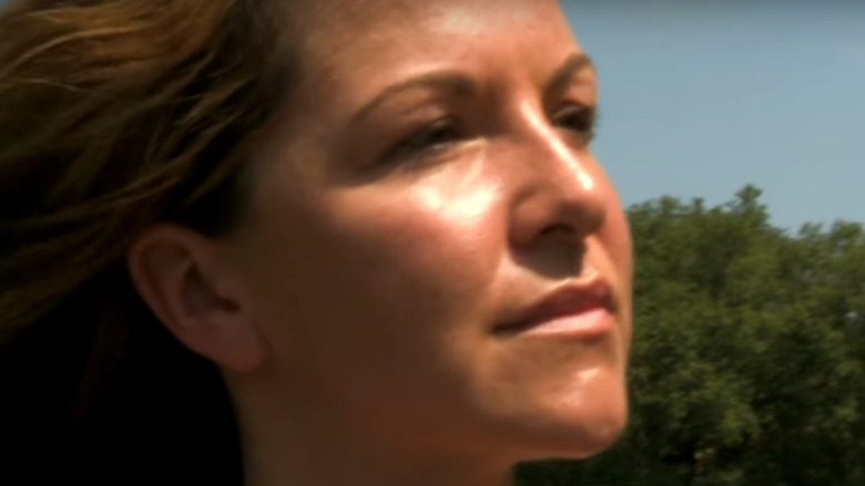 Amber Hargrove looks out into the wild on Naked and Afraid