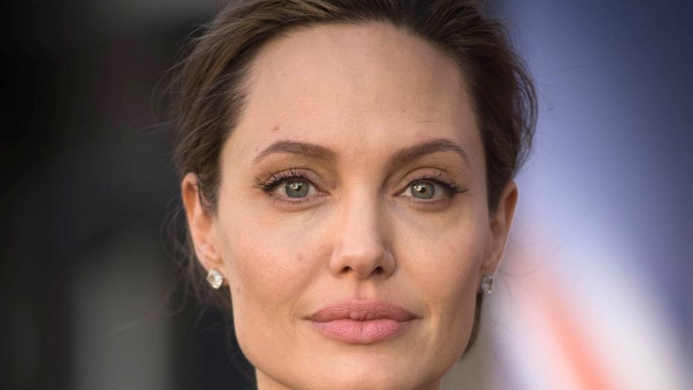 Angelina Jolie staring