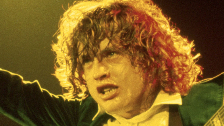 Angus Young rocks out on the stage