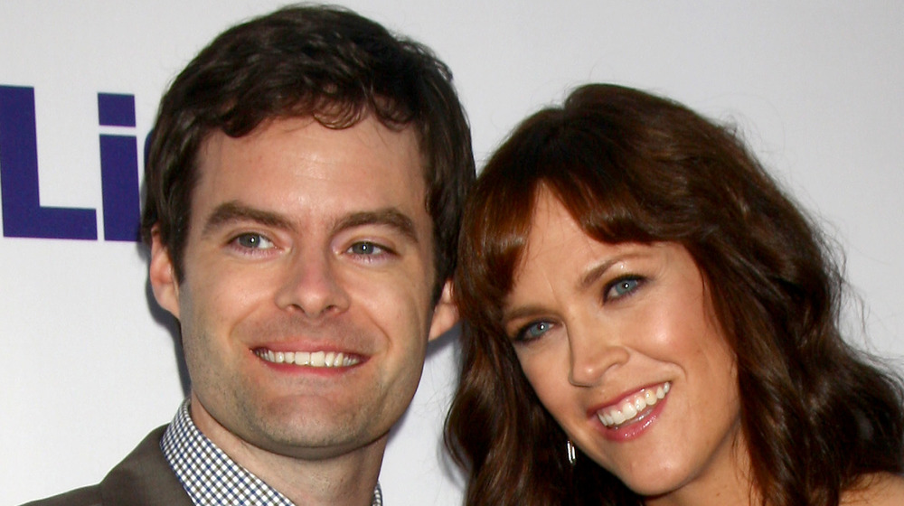 Bill Hader and Maggie Carey, The To Do List red carpet