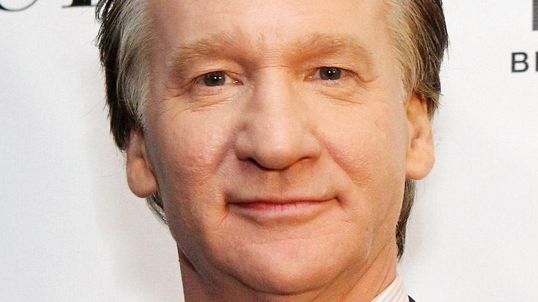 Bill Maher in his home