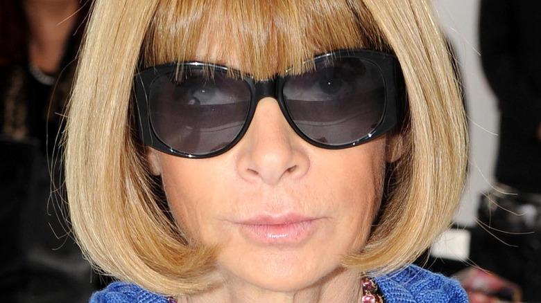 Anna Wintour wearing sunglasses