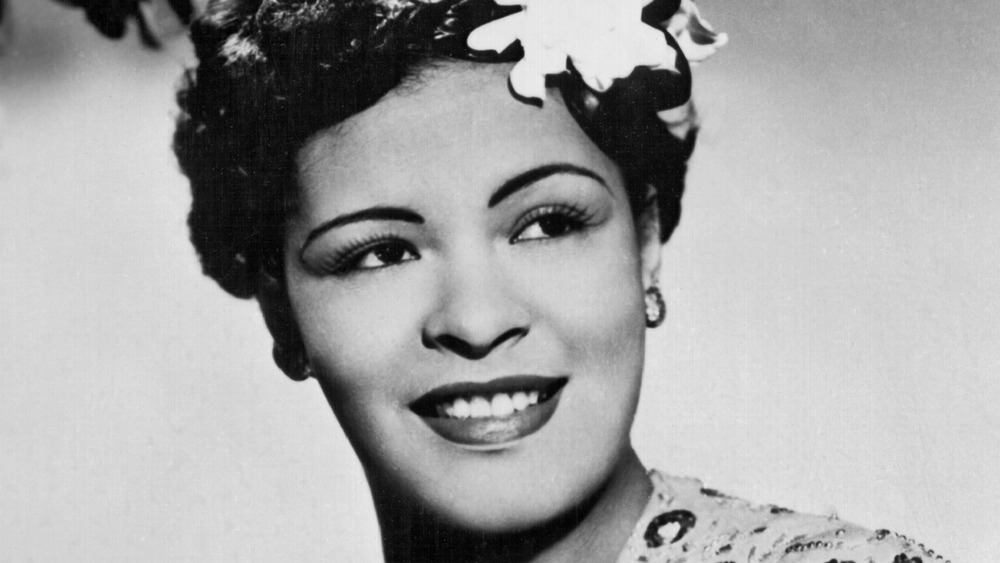 Billie Holiday posing for a photo