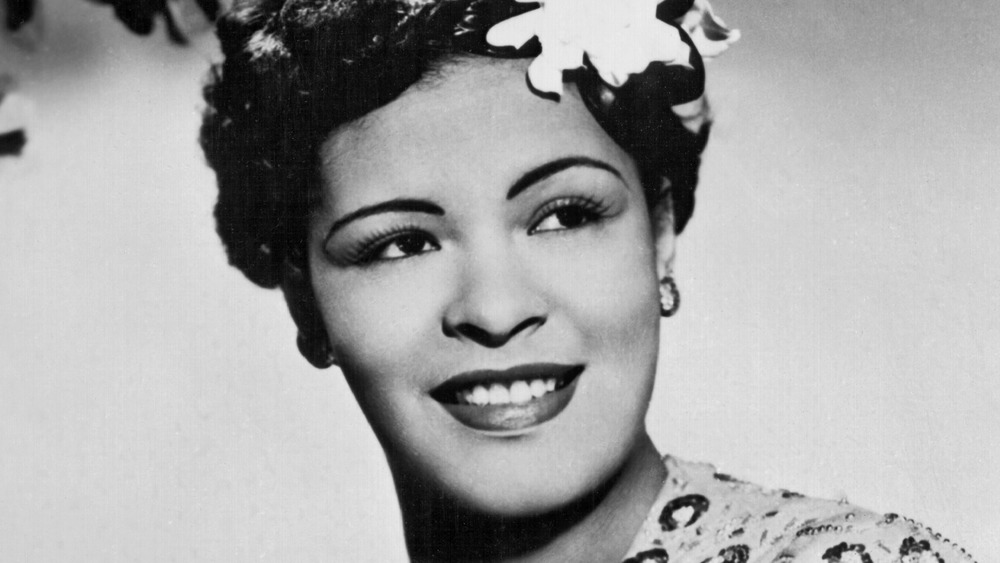 Billie Holiday posing for an official photo