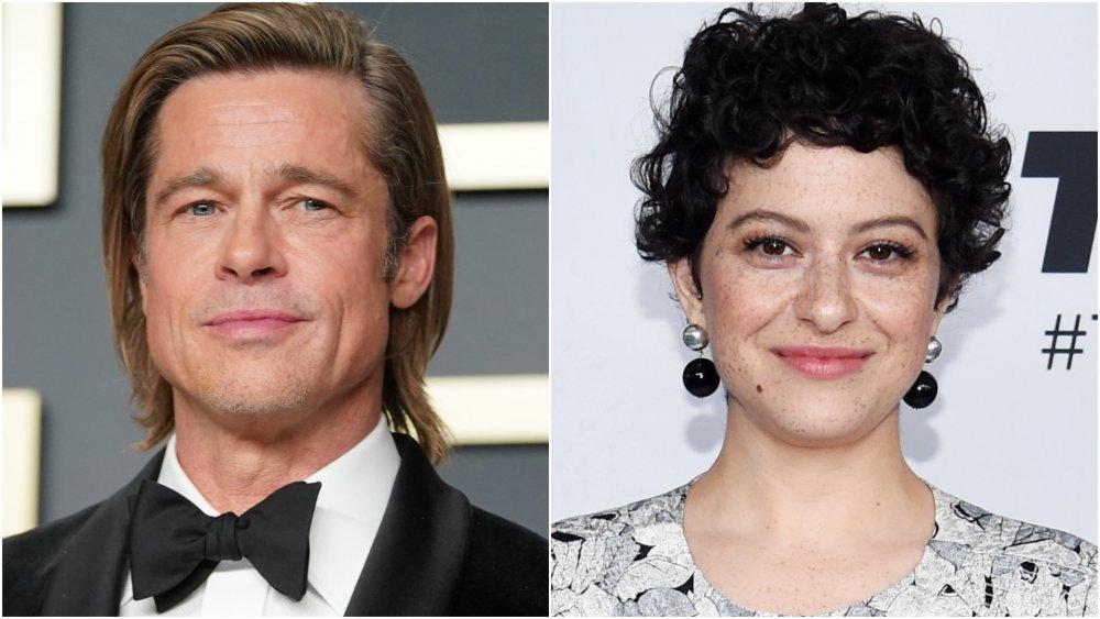 Actor Brad Pitt; actress Alia Shawkat