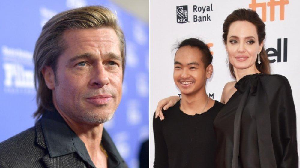 Brad Pitt, Maddox Jolie-Pitt, and Angelina Jolie