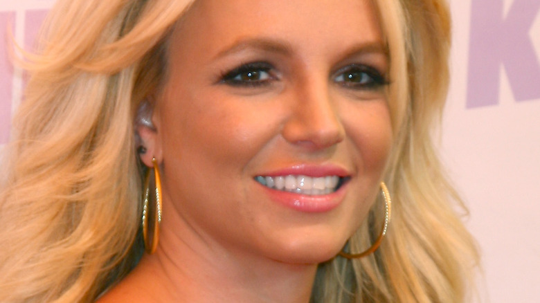 Britney Spears on the red carpet in black dress