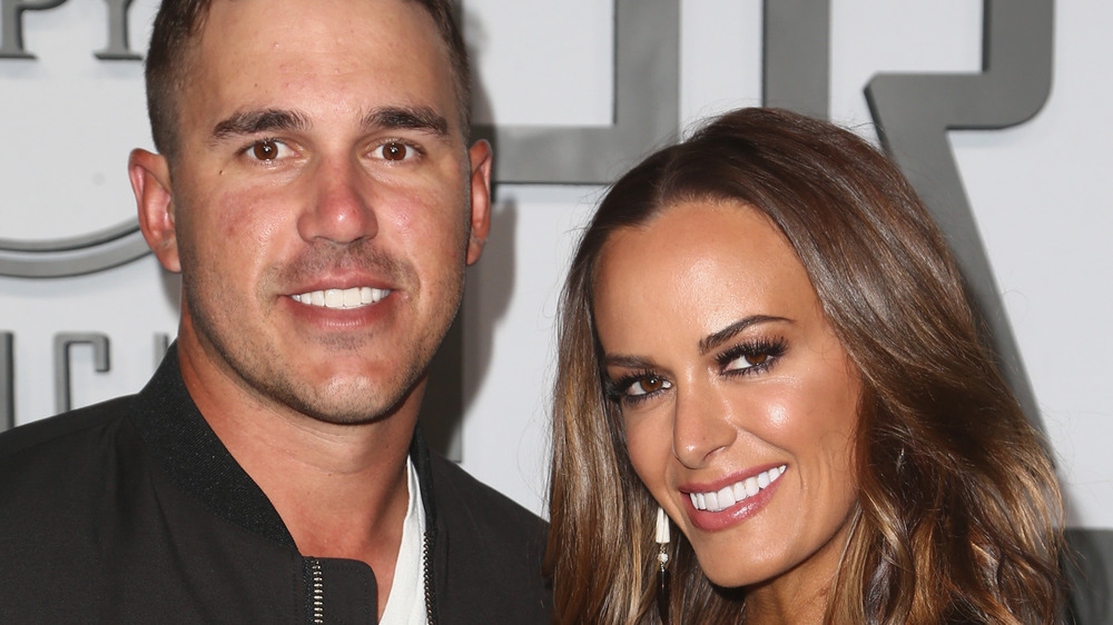 Brooks Koepka and Jena Sims on the red carpet