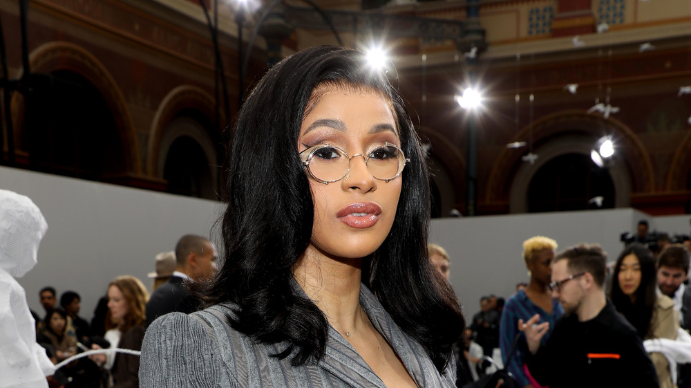 Cardi B appearing at a fashion show