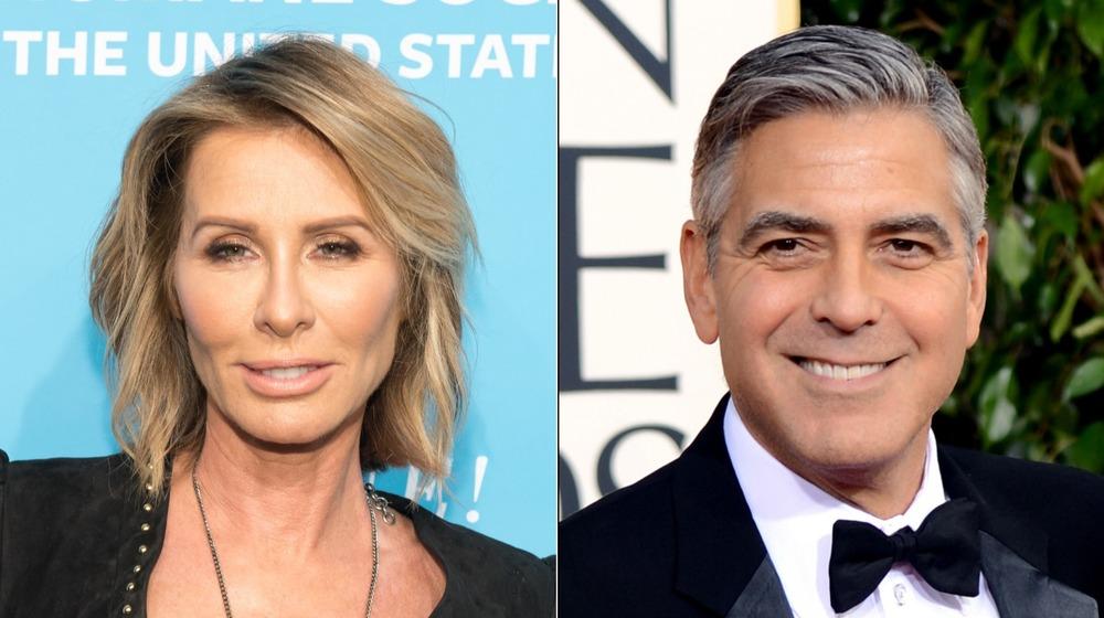 Carole Radziwill and George Clooney