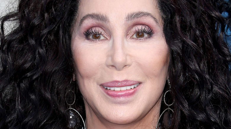 Cher poses at an event