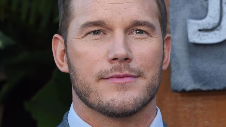 Chris Pratt with slight smile