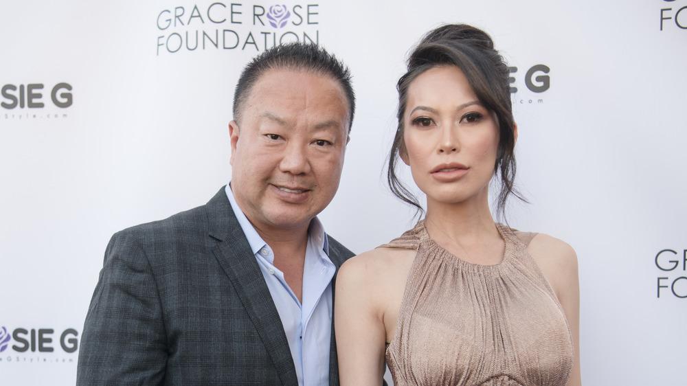 Dr. Gabriel and Christine Chiu at a red carpet event