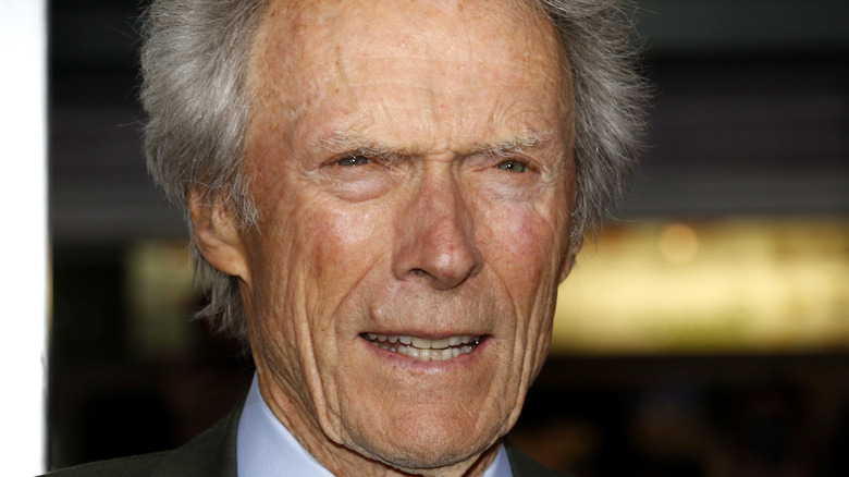 Clint Eastwood at a movie premiere