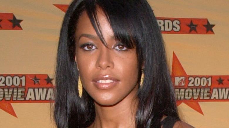 AALIYAH at the MTV Movie Awards in Los Angeles