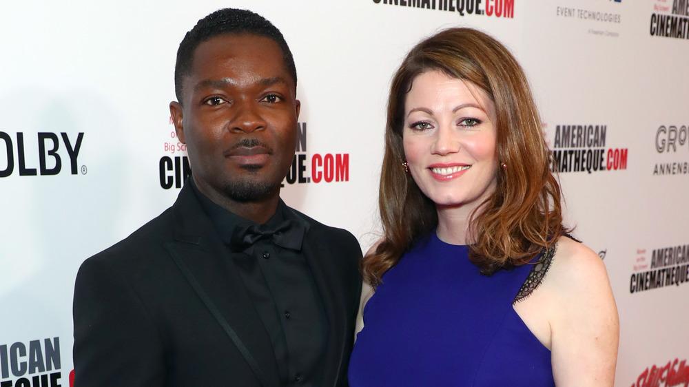 David and Jessica Oyelowo on red carpet