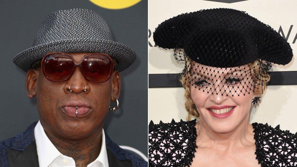 Split of Dennis Rodman and Madonna