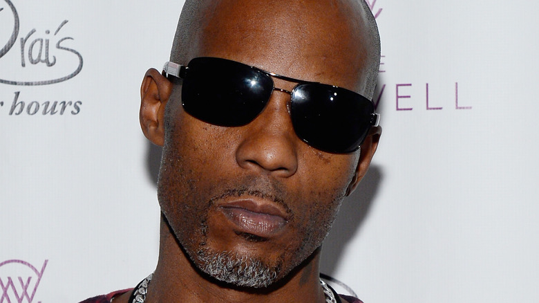 Rapper DMX posing in sunglasses