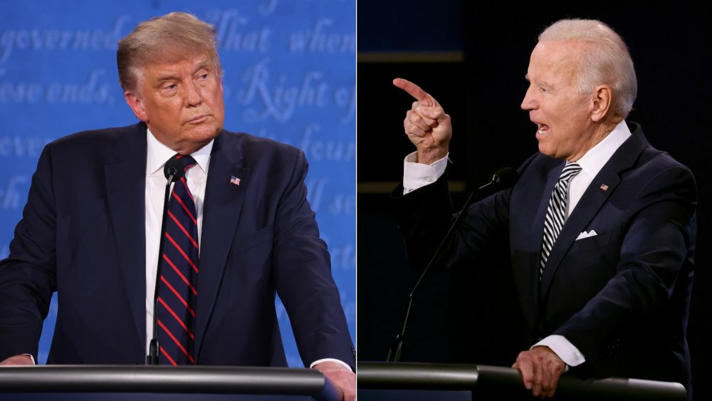 Donald Trump and Joe Biden at their first presidential debate