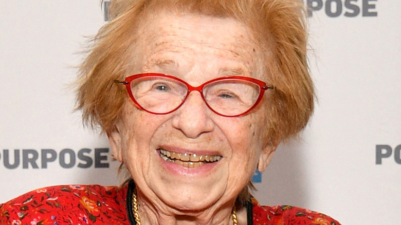 Dr. Ruth Westheimer smiling