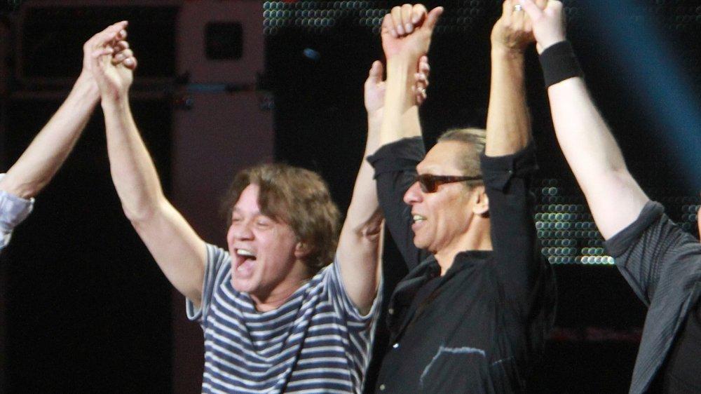 Eddie Van Halen and Alex Van Halen at Madison Square Garden