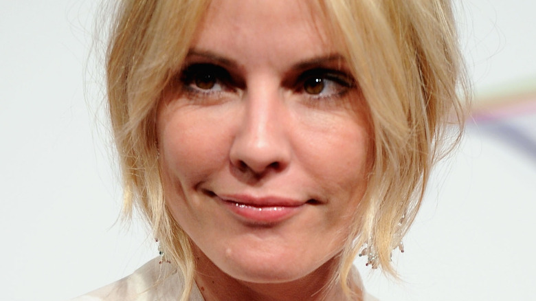 Emma Caulfield staring to the side