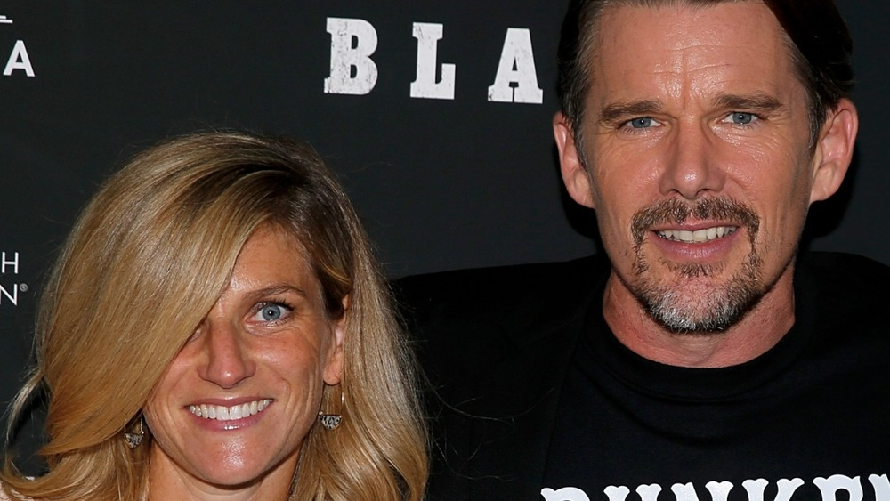 """Ryan Shawhughes Hawke and  Ethan Hawke and Ethan Hawke arrive for the New York screening of """"Blaze"""" at IFC Center 2018"""