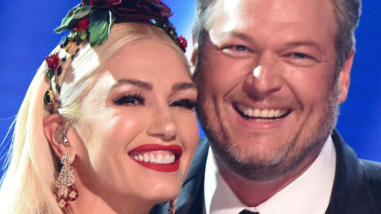 Gwen Stefani and Blake Shelton at the Grammys