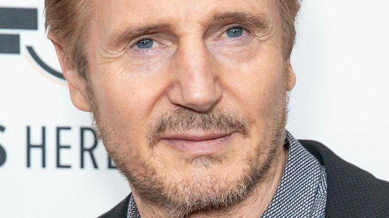 Liam Neeson posing